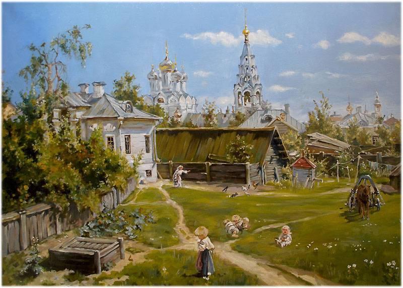 Сочинение описание по картине поленова московский дворик