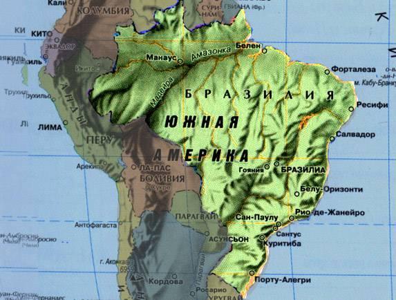 Устье реки амазонка на карте