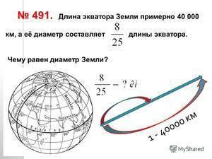Укажите диаметр земли