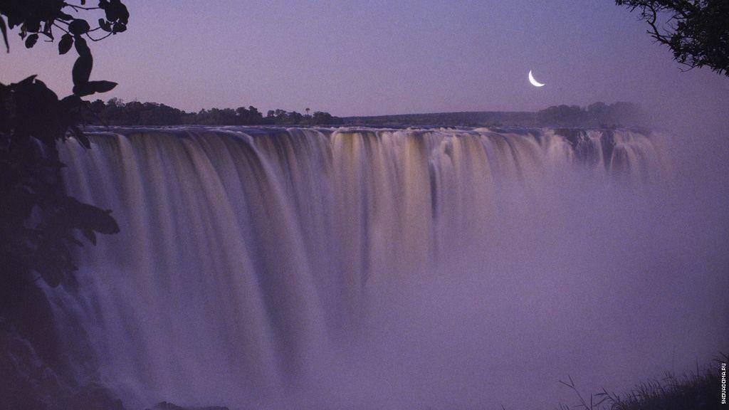 На какой реке находится водопад виктория