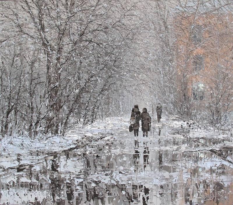Живопись первый снег