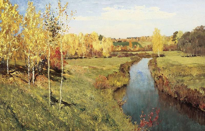 Сочинение на тему золотая осень картина левитана