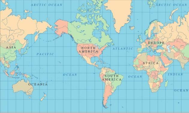 Россия какое полушарие земли