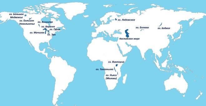 Где находится озеро верхнее на карте мира