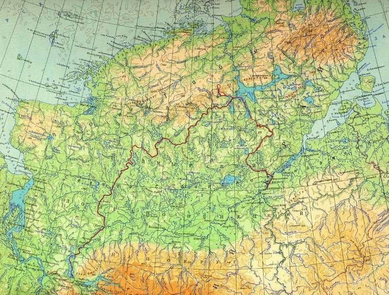 Полуостров таймыр на карте россии