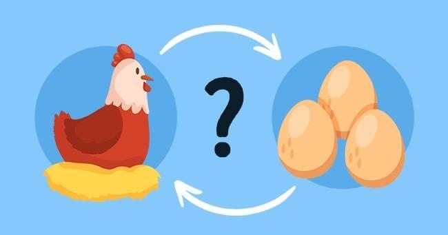 Что было раньше курица или яйцо