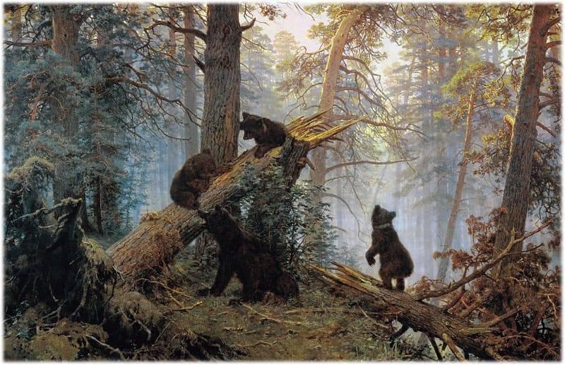 Сочинение описание утро в сосновом лесу