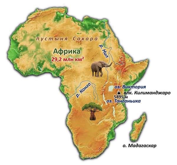 Визитная карточка материка африка