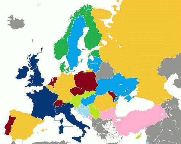 Европейские столицы в алфавитном порядке