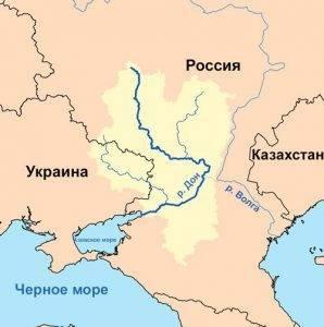 Реки европейской части россии на карте