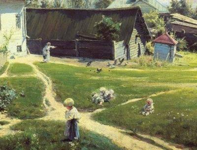 Поленов московский дворик описание картины
