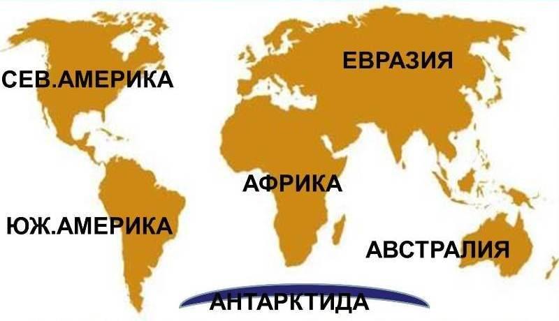 Сколько всего материков выделяют на земле