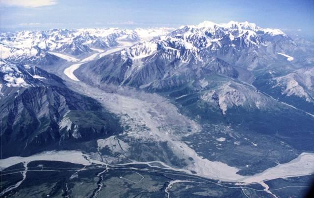 Ледники аляски на карте