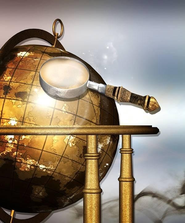 Районы земли на глобусе