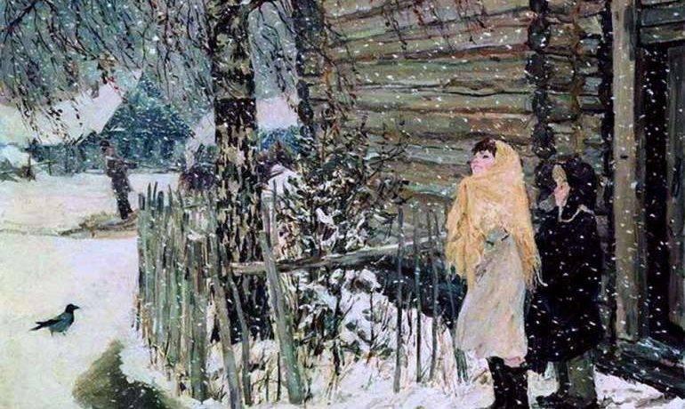 Краткое описание картины пластова первый снег