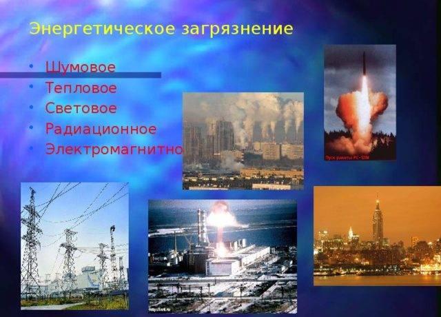 Классификация источников загрязнения