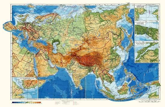 В каком полушарии расположена евразия