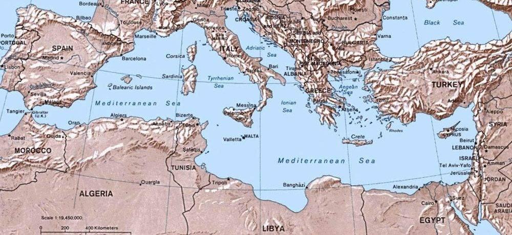 Где находится средиземноморье