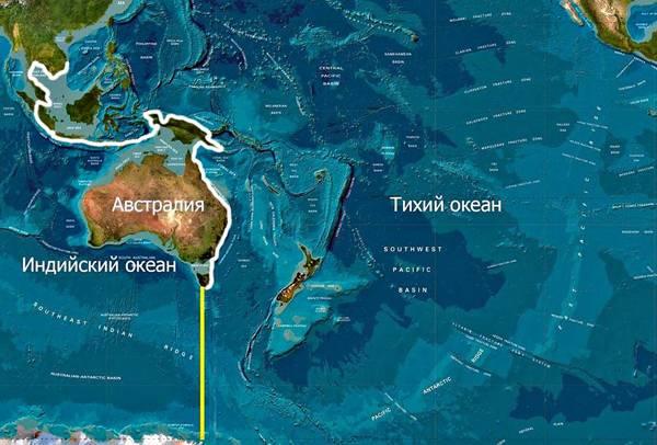 Карта тихого океана географическая